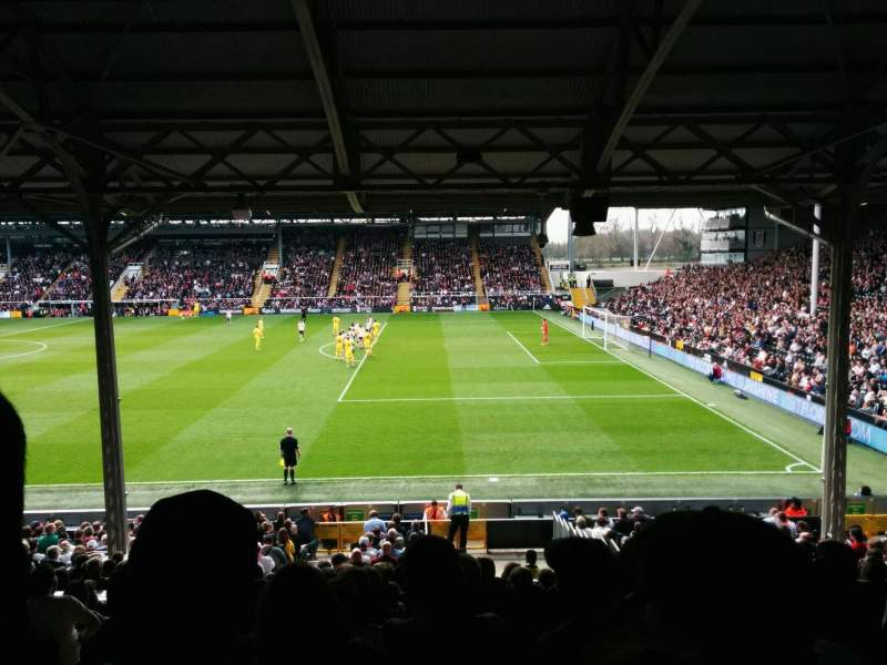 Seating view for Craven Cottage Section b Row n Seat 12