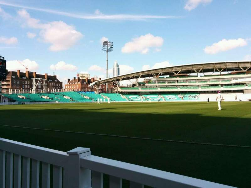 Seating view for Kia Oval Section Pavilion Terrace Row a Seat 25