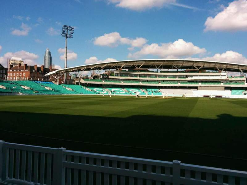 Seating view for Kia Oval Section Pavilion Terrace Row d Seat 72