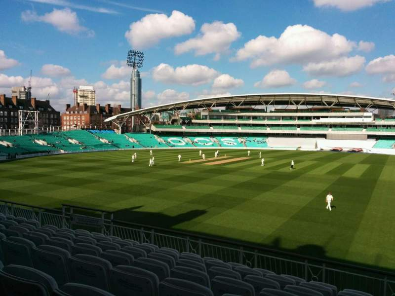 Seating view for Kia Oval Section middle pavilion Row g Seat 26