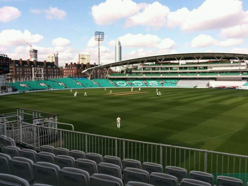 Seating view for Kia Oval Section middle pavilion Row f Seat 18