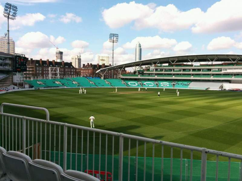 Seating view for Kia Oval Section middle pavilion Row c Seat 32