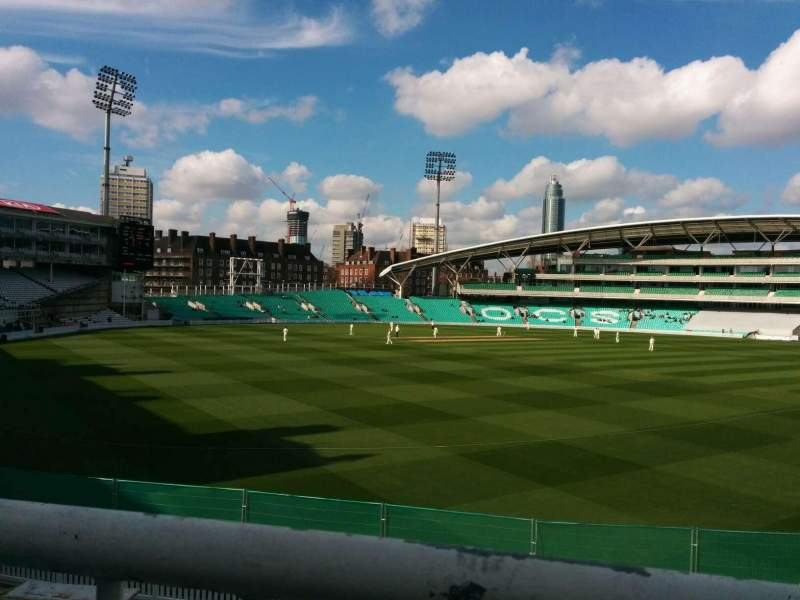 Seating view for Kia Oval Section middle pavilion Row a Seat 61