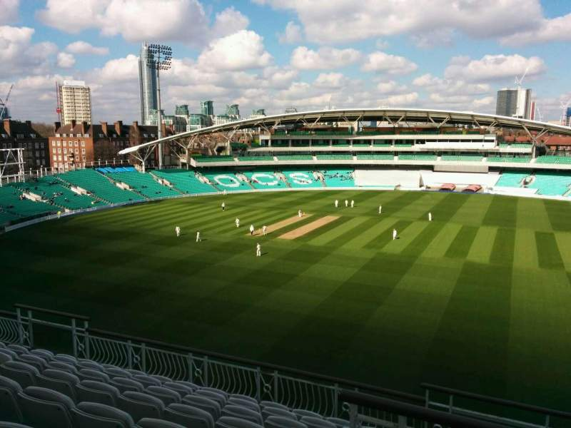 Seating view for Kia Oval Section Pavilion Top Row h Seat 16