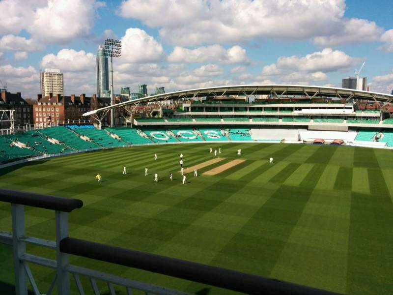 Seating view for Kia Oval Section Pavilion Top Row b Seat 28