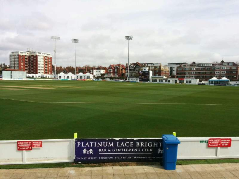 Seating view for County Cricket Ground (Hove) Section D Row f Seat 63