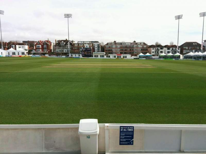Seating view for County Cricket Ground (Hove) Section B Row c Seat 32