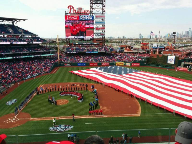 Seating view for Citizens Bank Park Section 315 Row 4 Seat 19