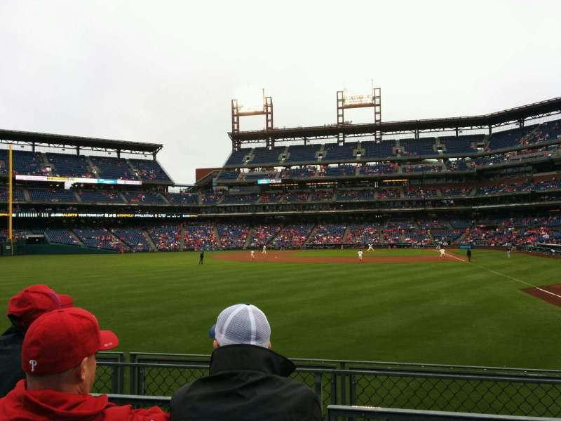 Seating view for Citizens Bank Park Section 142 Row 3 Seat 2