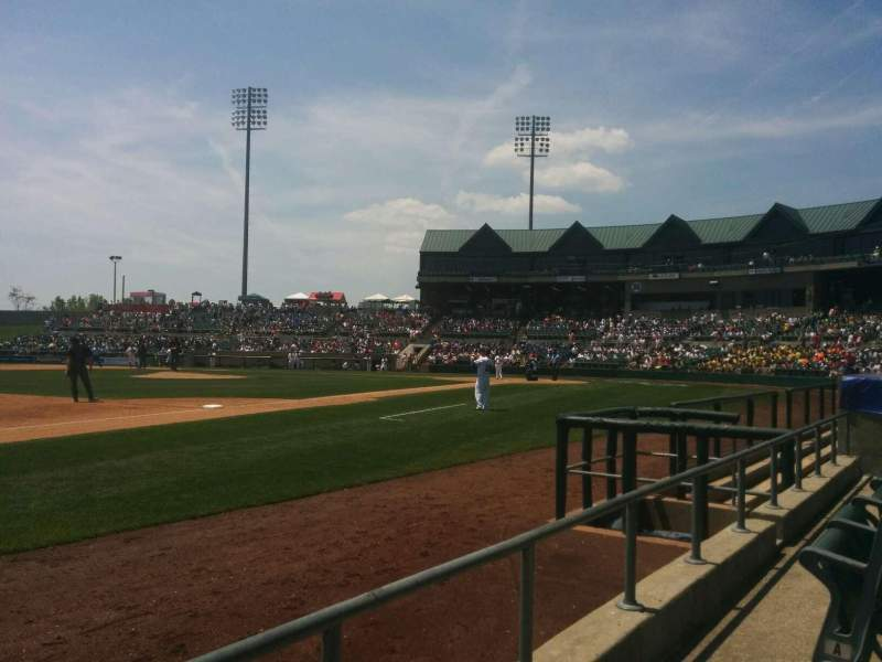 Seating view for TD Bank Ballpark Section 120 Row b Seat  3