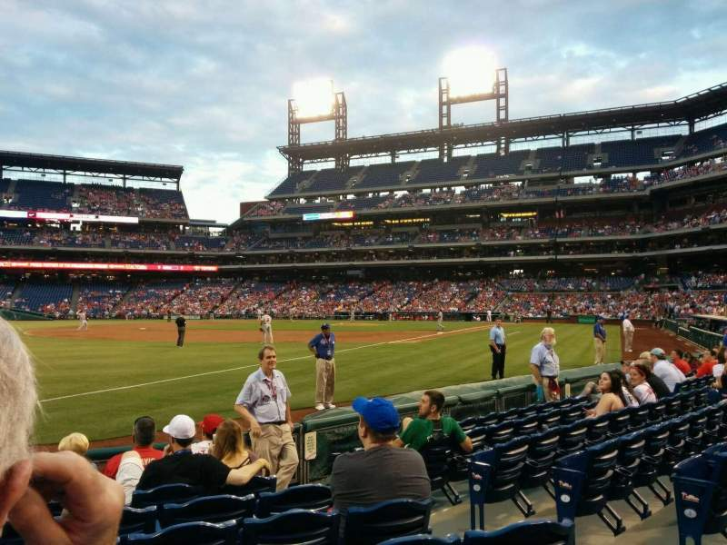 Seating view for Citizens Bank Park Section 137 Row 8 Seat 5