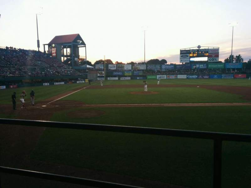 Seating view for McCoy Stadium Section 4 Row b Seat 4
