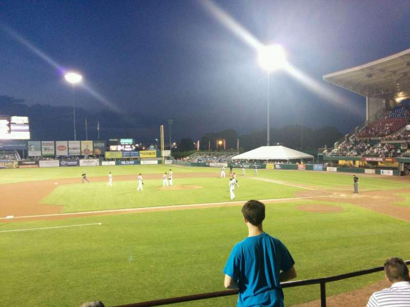 Seating view for McCoy Stadium  Section 11 Row d Seat 2