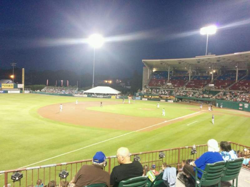 Seating view for McCoy Stadium Section 15 Row bb Seat 7