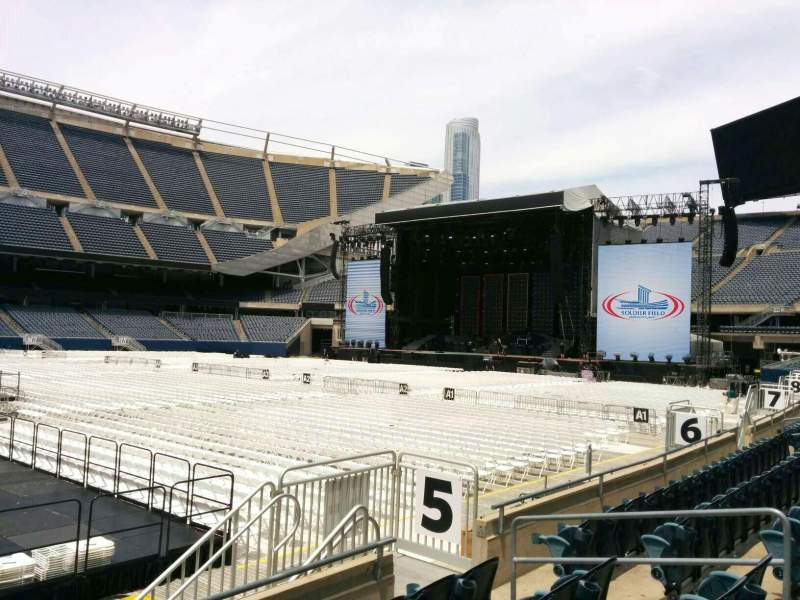 Seating view for Soldier Field Section 110 Row 5 Seat 11
