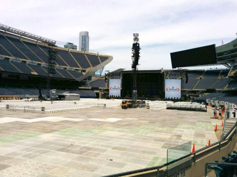 Seating view for Soldier Field Section 117 Row 5 Seat 11
