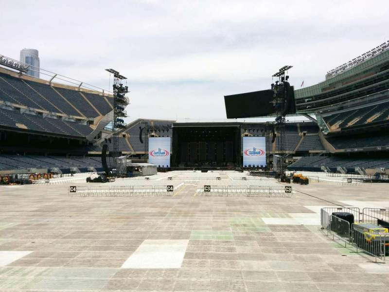 Seating view for Soldier Field Section 122 Row 4 Seat 6
