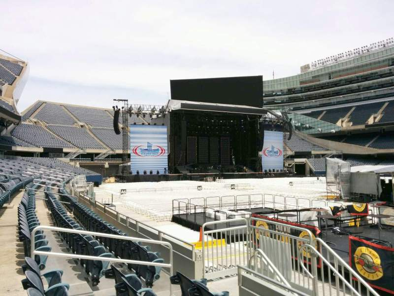 Seating view for Soldier Field Section 133 Row 4 Seat 9