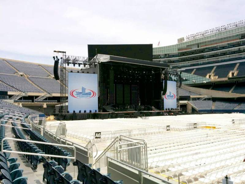 Seating view for Soldier Field Section 136 Row 4 Seat 12