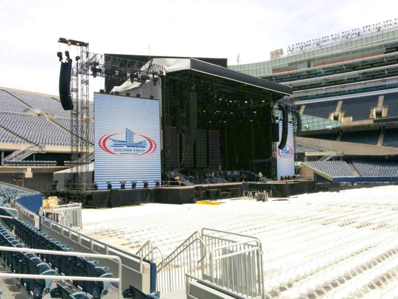 Seating view for Soldier Field Section 140 Row 4 Seat 9