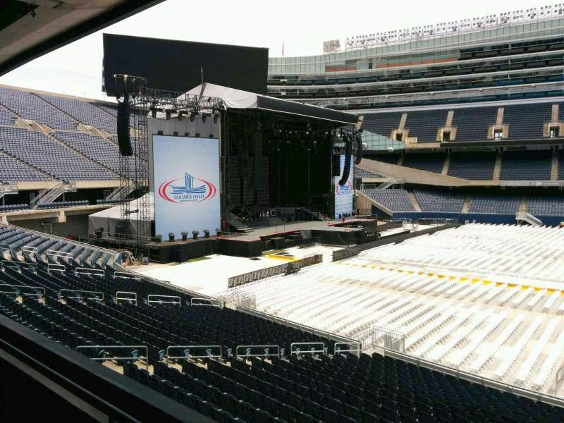 Seating view for Soldier Field Section 240 Row 2 Seat 12