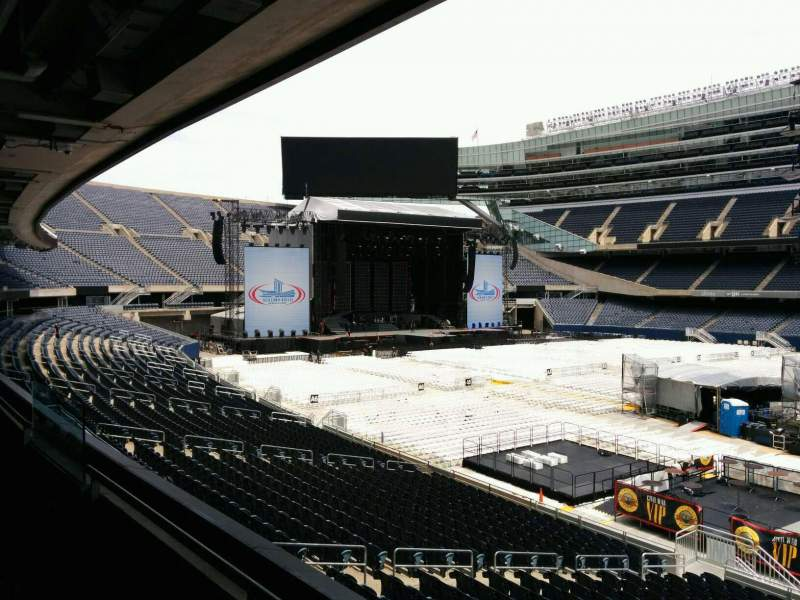 Seating view for Soldier Field Section 234 Row 2 Seat 9