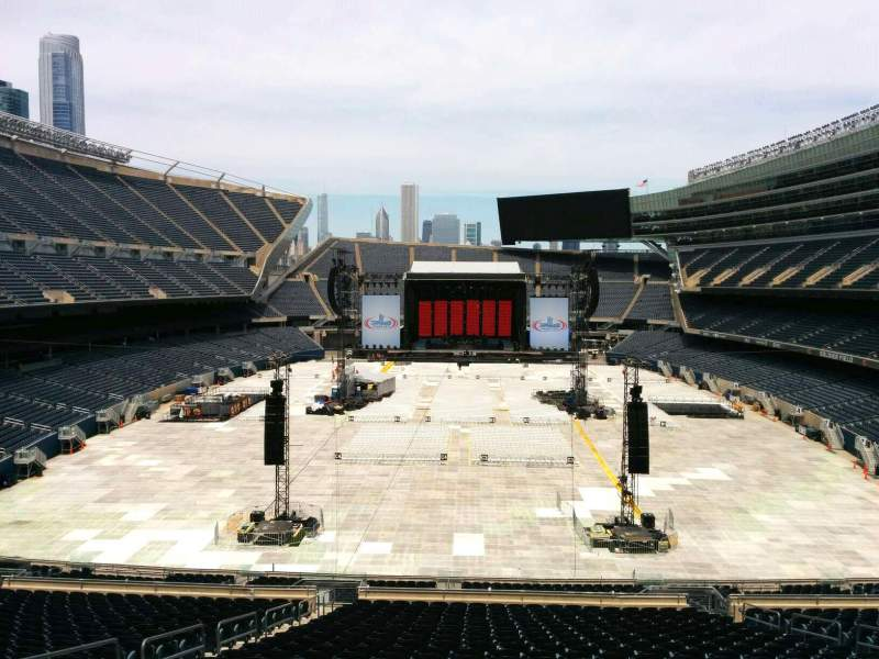 Seating view for Soldier Field Section 322 Row 3 Seat 8
