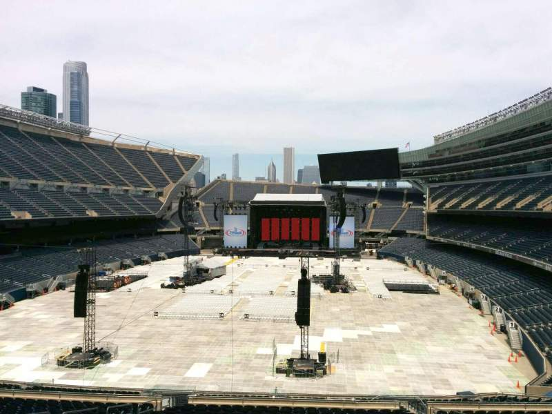Seating view for Soldier Field Section 321 Row 3 Seat 12