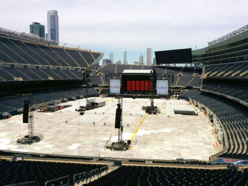 Seating view for Soldier Field Section 320 Row 3 Seat 6