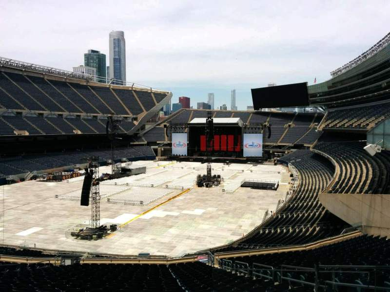 Seating view for Soldier Field Section 319 Row 3 Seat 20