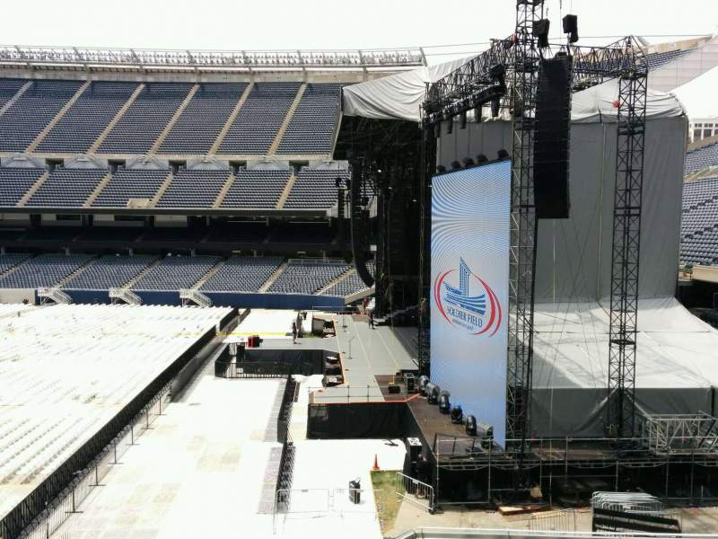 Seating view for Soldier Field Section 203 Row 7 Seat 1
