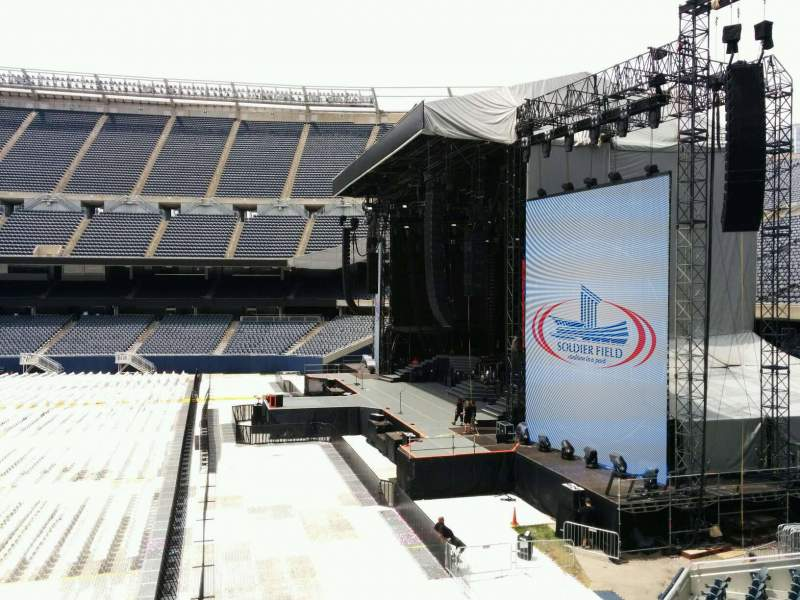 Seating view for Soldier Field Section 204 Row 2 Seat 4