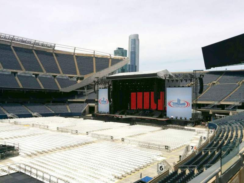 Seating view for Soldier Field Section 210 Row 2 Seat 10