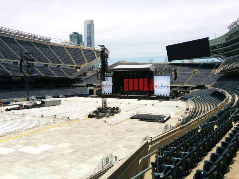 Seating view for Soldier Field Section 215 Row 6 Seat 17
