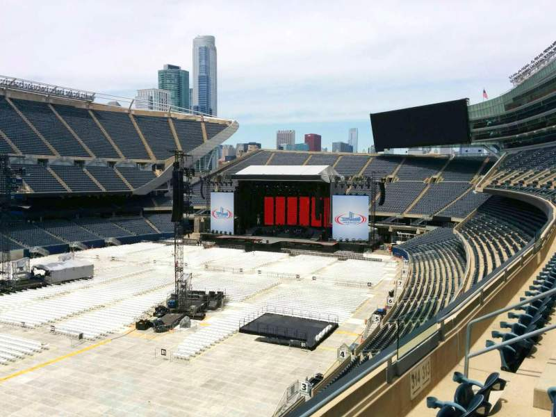 Seating view for Soldier Field Section 314 Row 3 Seat 8