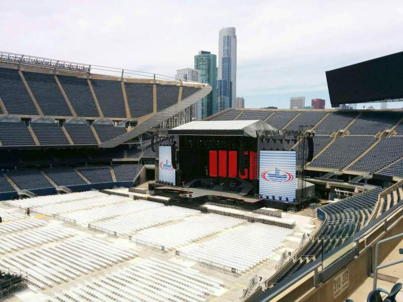 Seating view for Soldier Field Section 310 Row 3 Seat 8