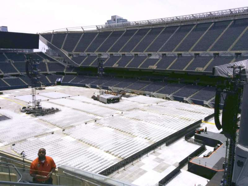 Seating view for Soldier Field Section 302 Row 8 Seat 6