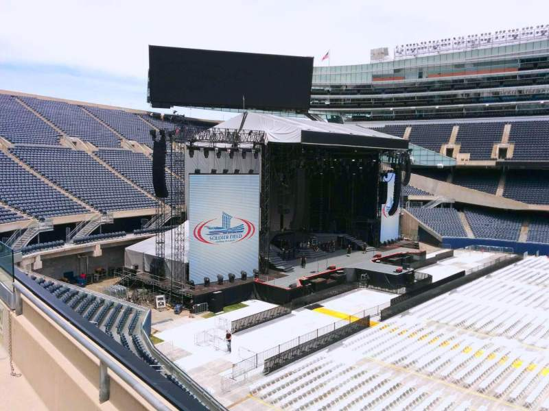 Seating view for Soldier Field Section 340 Row 2 Seat 11