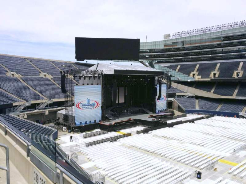 Seating view for Soldier Field Section 338 Row 2 Seat 7