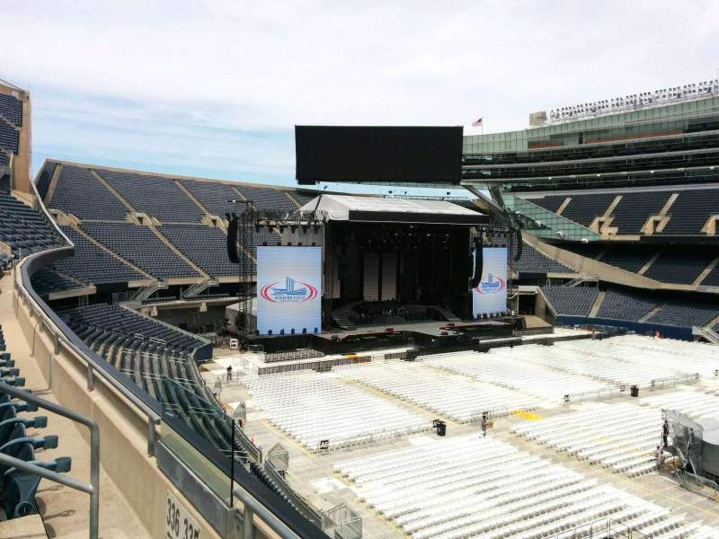 Seating view for Soldier Field Section 335 Row 2 Seat 7