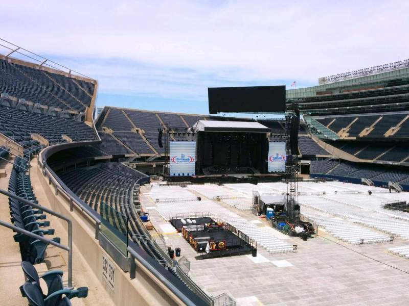 Seating view for Soldier Field Section 331 Row 2 Seat 9