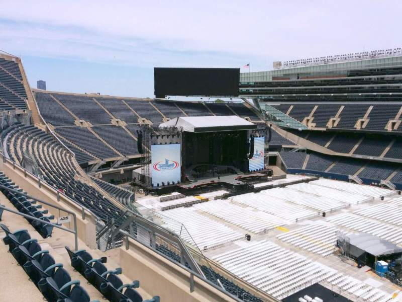 Seating view for Soldier Field Section 435 Row 4 Seat 12