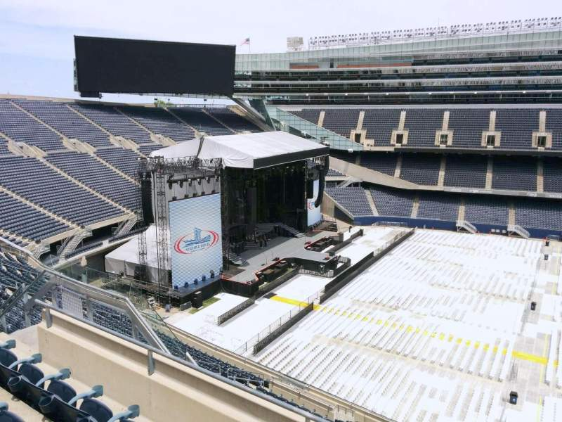 Seating view for Soldier Field Section 439 Row 4 Seat 12