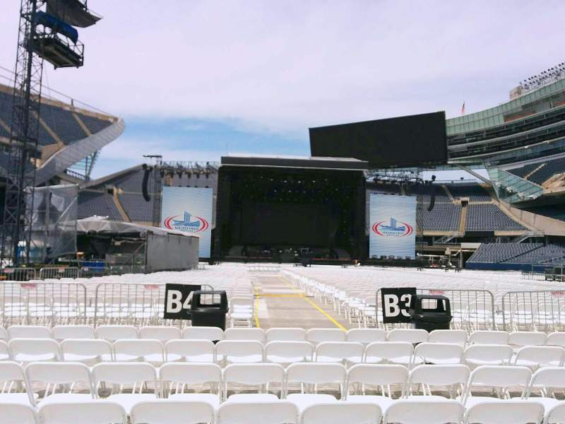 Seating view for Soldier Field Section c4 Row 7 Seat 12