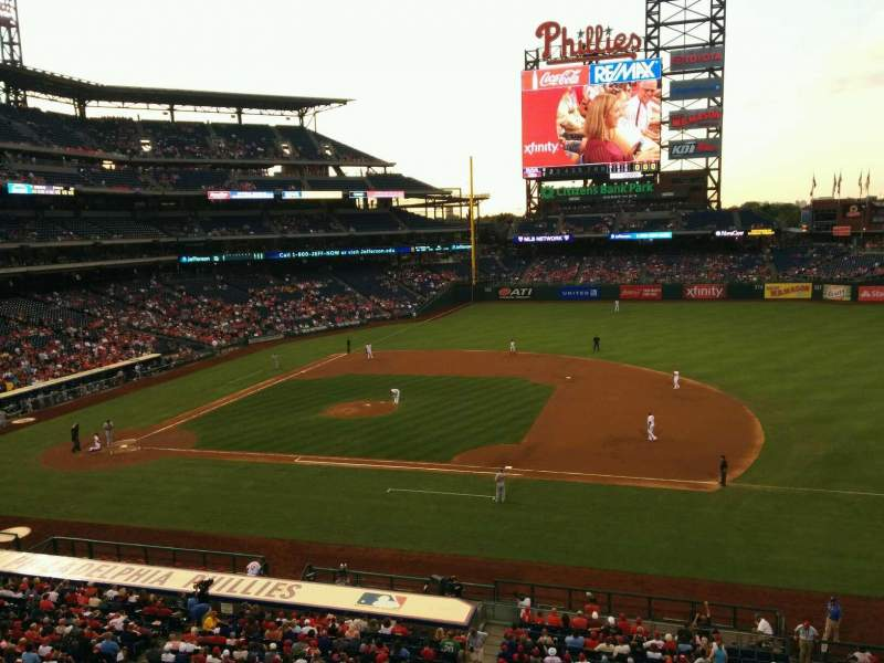 Seating view for Citizens Bank Park Section 214 Row 1 Seat 9