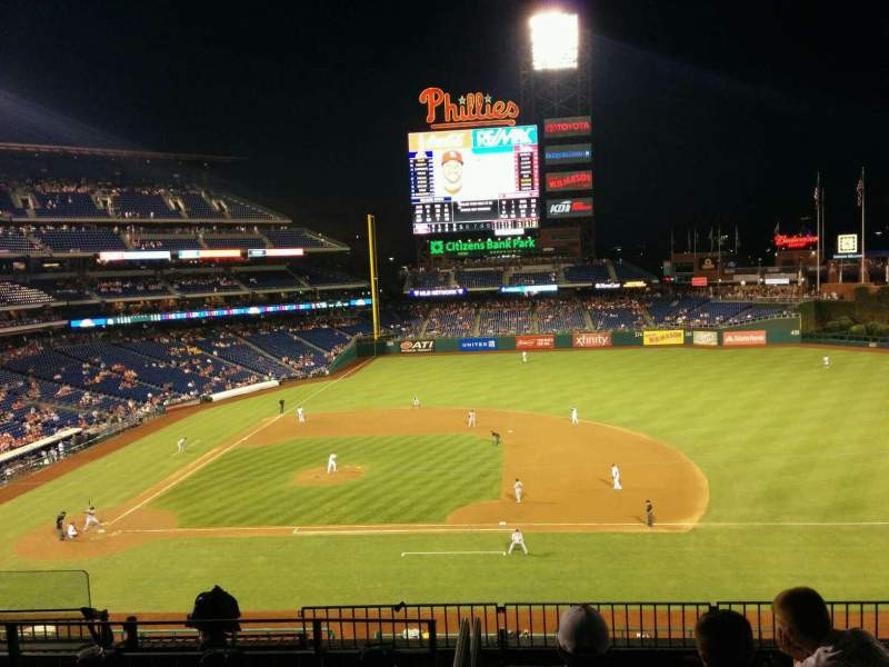 Seating view for Citizens Bank Park Section 213 Row 7 Seat 6