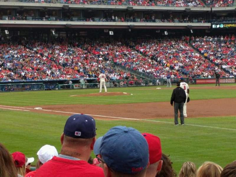 Seating view for Citizens Bank Park Section 111 Row 11 Seat 8