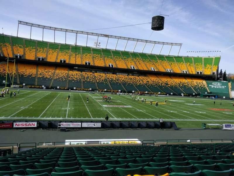 Seating view for Commonwealth Stadium (Edmonton) Section w Row 17 Seat 12