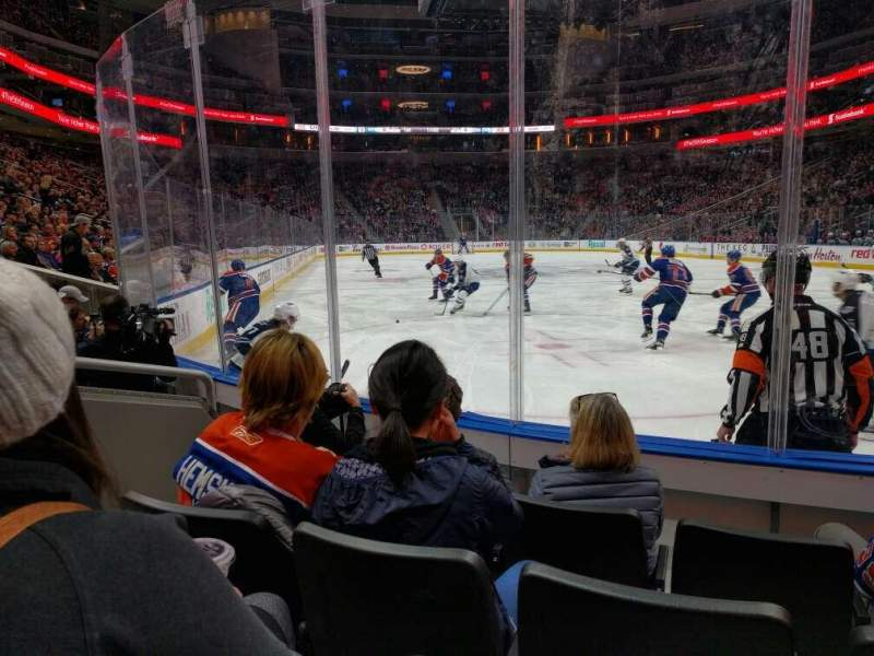 Seating view for Rogers Place Section 113 Row 4 Seat 4