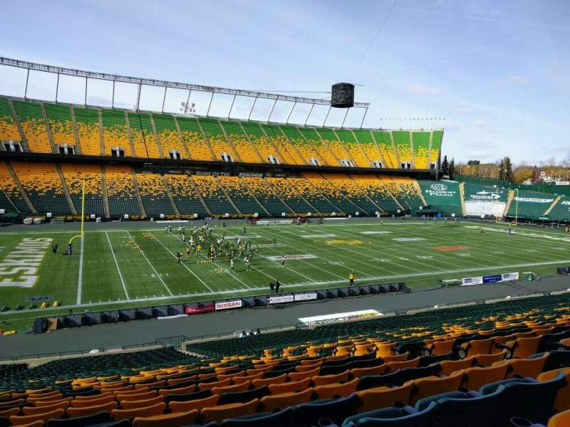 Seating view for Commonwealth Stadium (Edmonton) Section x Row 35 Seat 9